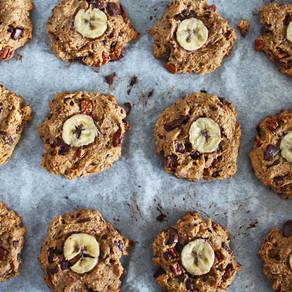 Chunky bananen-cookies