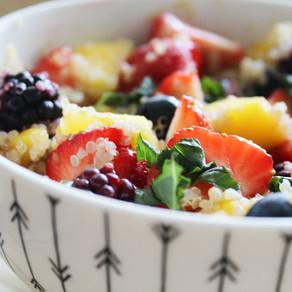 Fruitsalade met quinoa