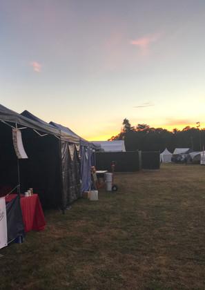 Setup behind the Maori stage