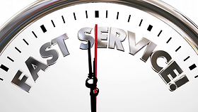 fast-service-company-clock-time-speed-wo
