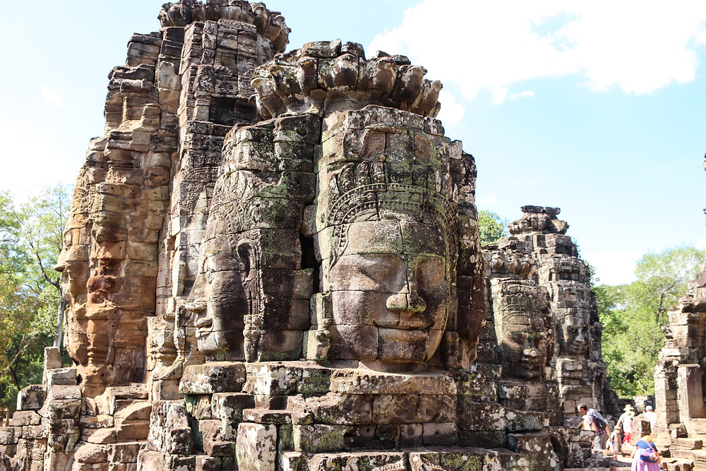 Bayon Temple with the mysterious serene faces