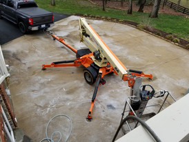 Boom Lift to wash Roofs