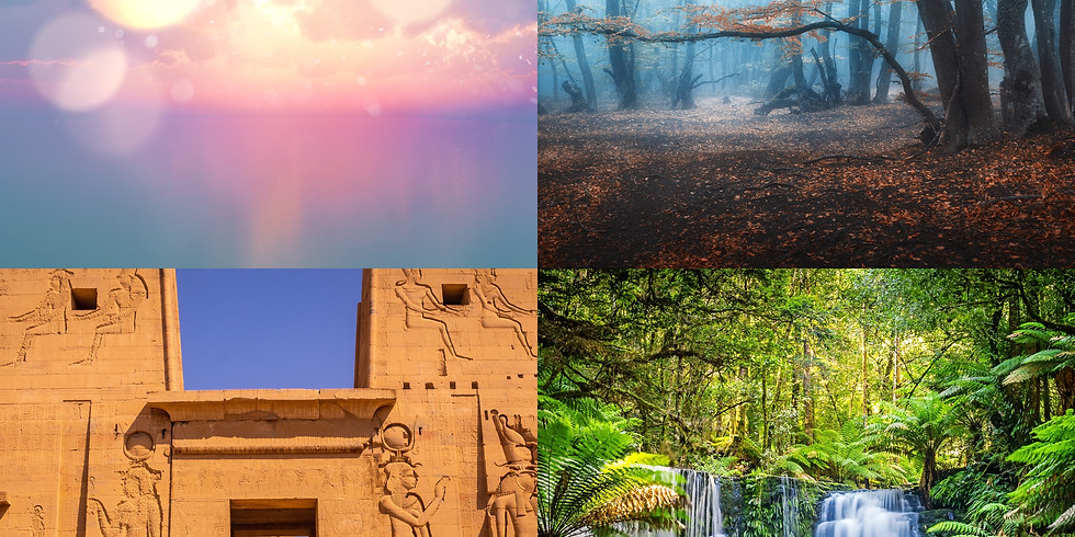 The Journeys Series - Angelic Realm, Woodland Realm, Egyptian Goddess Temple & Shamanic Lands Sound Baths