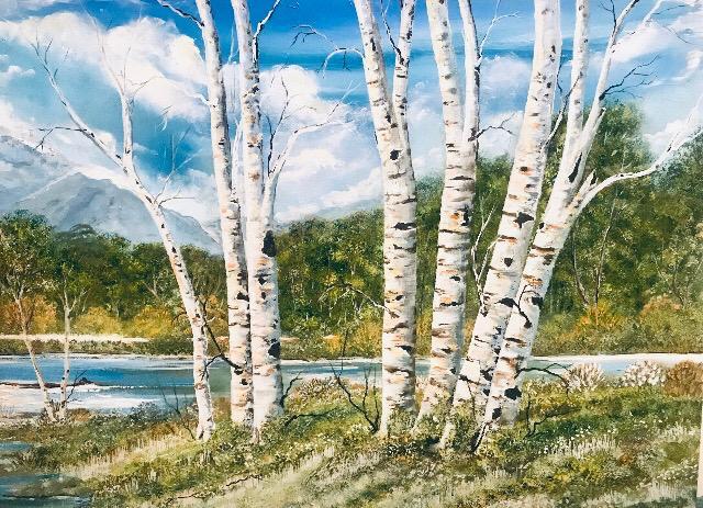 Original Acrylic - Silver Birch Trees