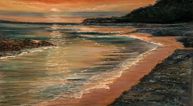 Busselton beach - Original Pastel