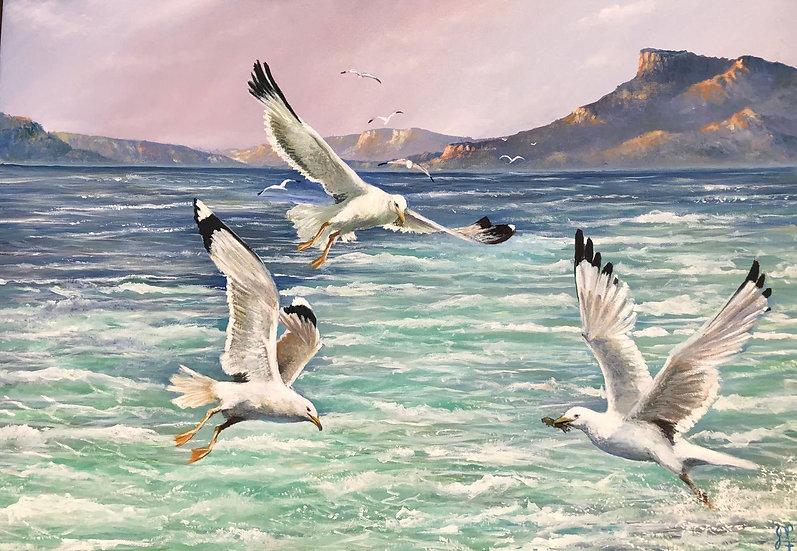Birds Feasting