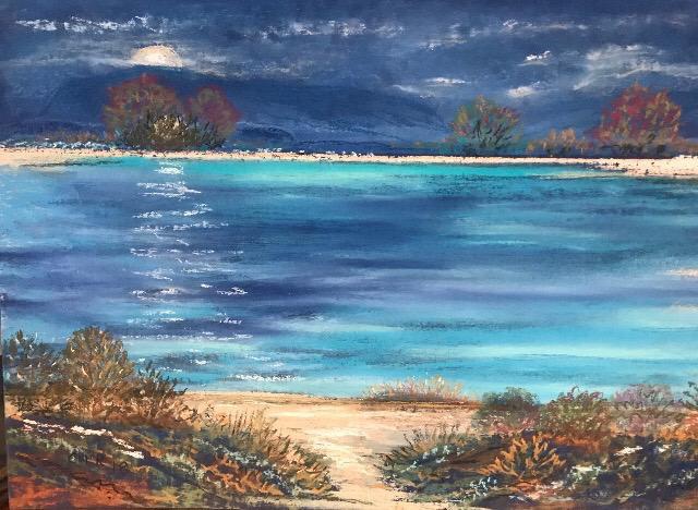 Moonlight - Original Pastel - Christine Rasmussen