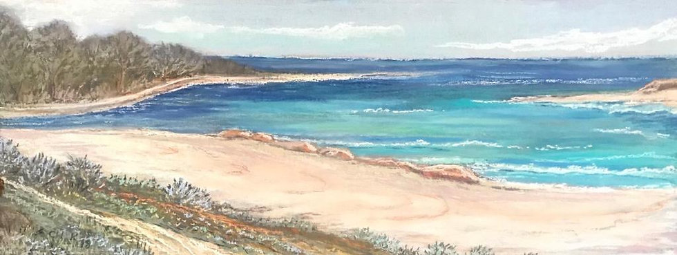 Summer Beach - Pastel Framed