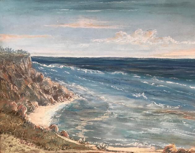 Rock Bay - Original Pastel - Christine Rasmussen