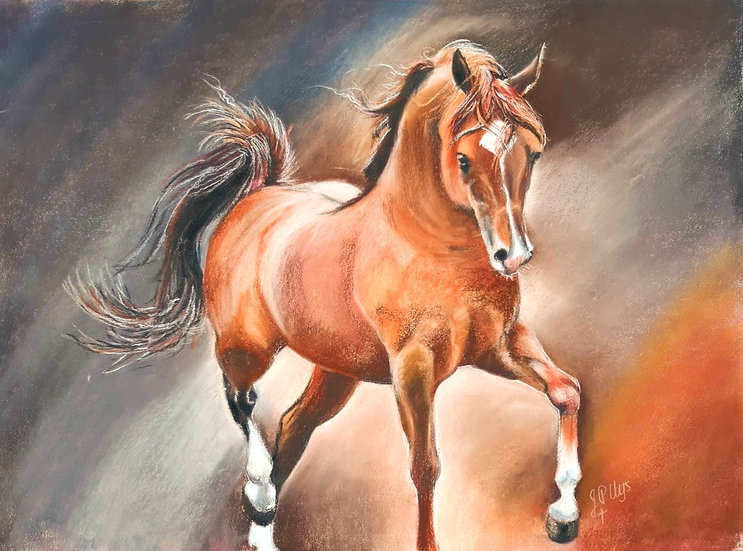 Majestic Crown - Original Pastel - John Peter Uys