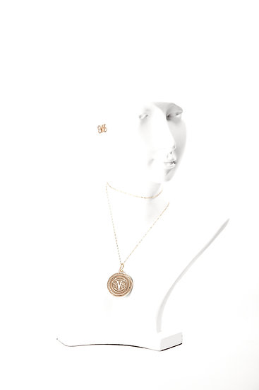 Restore EVE Gold Pendant and Earrings