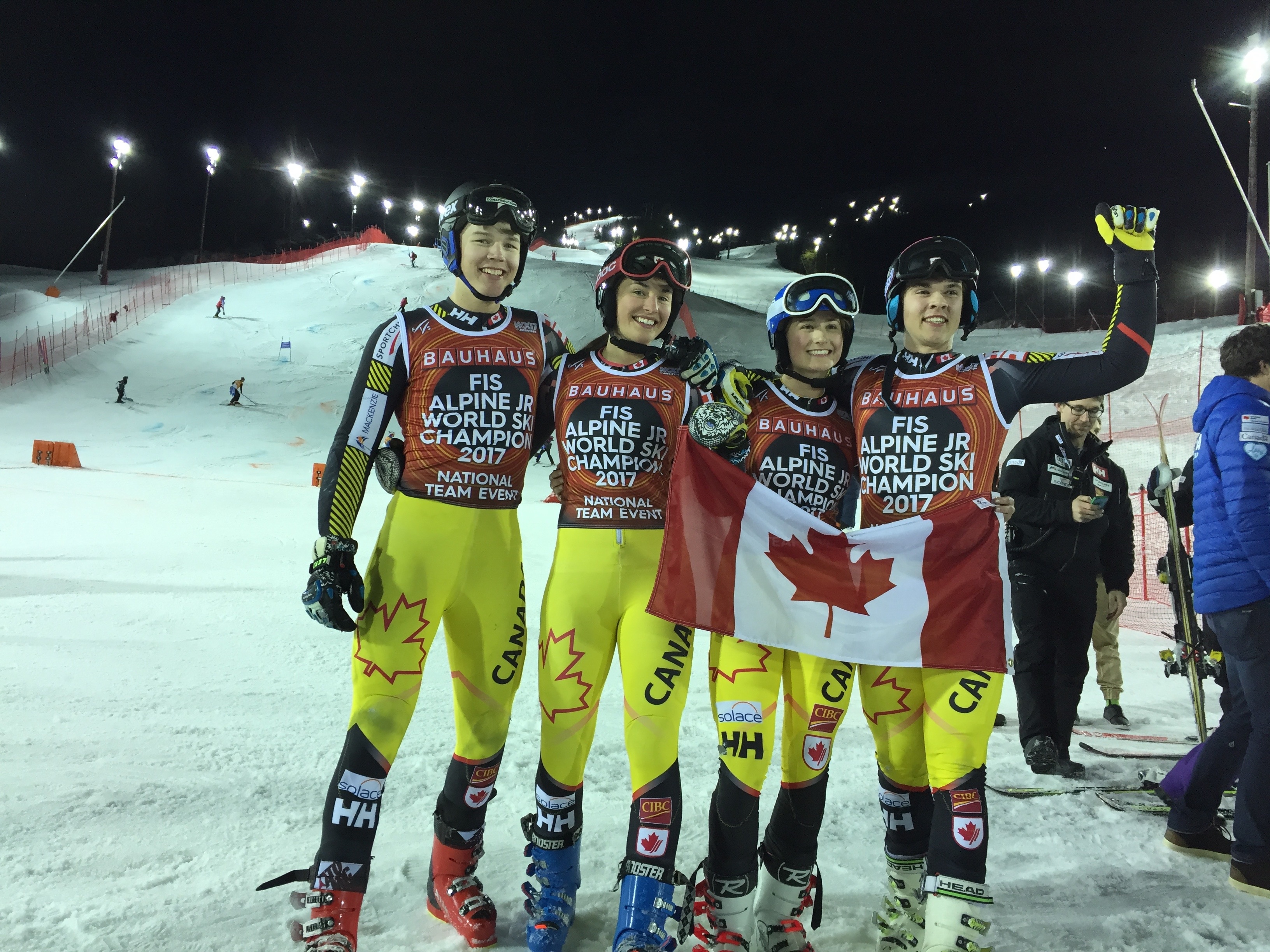 The team after winning Gold in the T