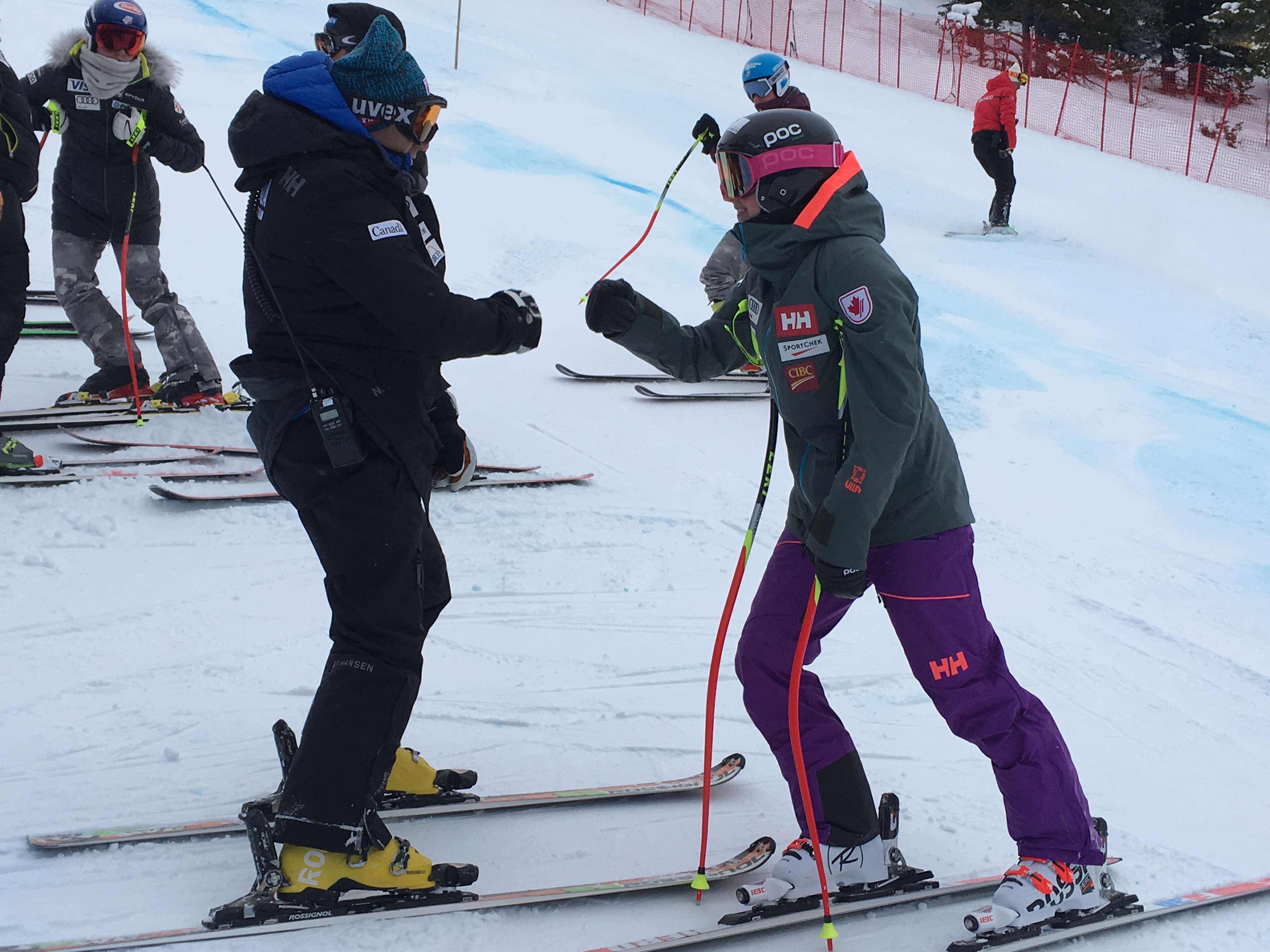 Getting fired up to race Lake Louise