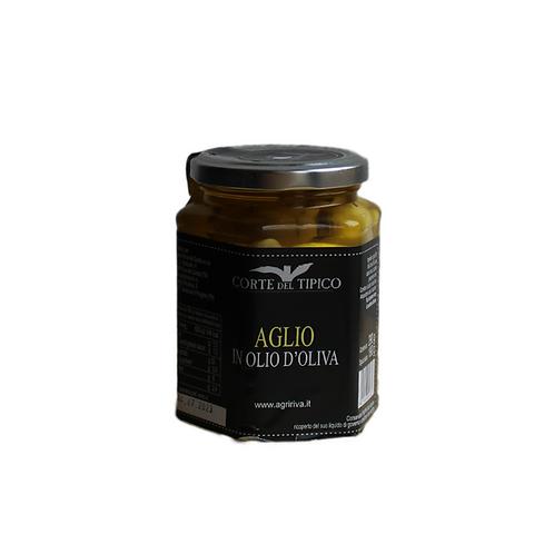 Im Olivenöl eingelegter Knoblauch
