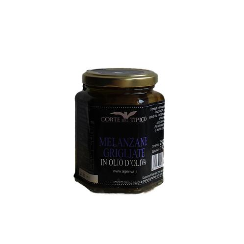 Im Olivenöl eingelegte Melanzane