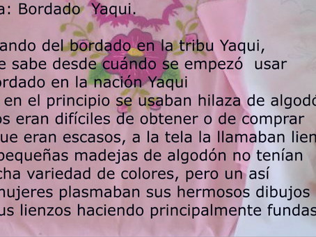 BORDADO YAQUI