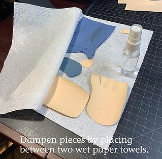 dampen pieces between paper towels.jpg