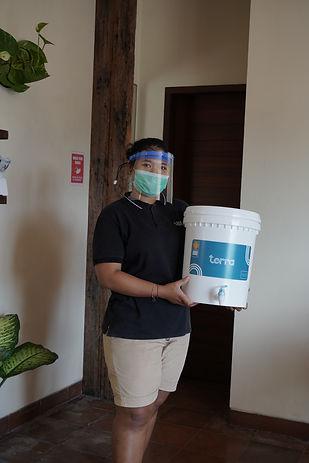 dukungan bisnis terra water filter keram