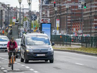 Bij meer dan 70% van de ongevallen met de fiets in Brussels Gewest is ook auto betrokken