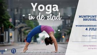 Yoga in de stad