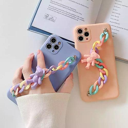 Casé iPhone cadena oso