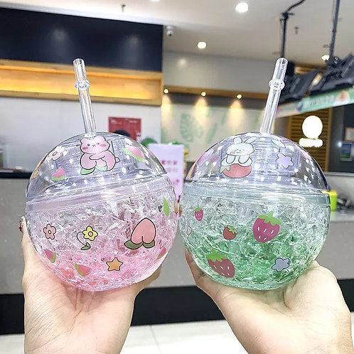 Vaso esfera de pegatinas