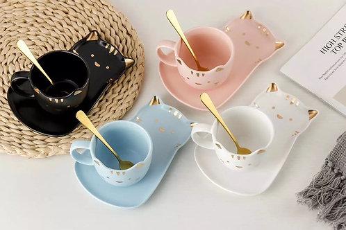 Juego de té gatito