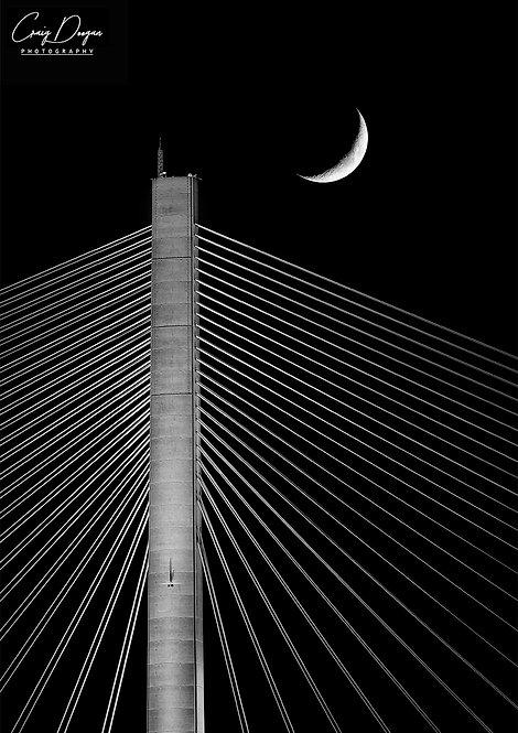 Craig Doogan Photographer Canvas Print Photo Wall Art Edinburgh Forth Bridge Moon