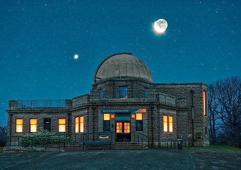 Mills Observatory Moon & Venus