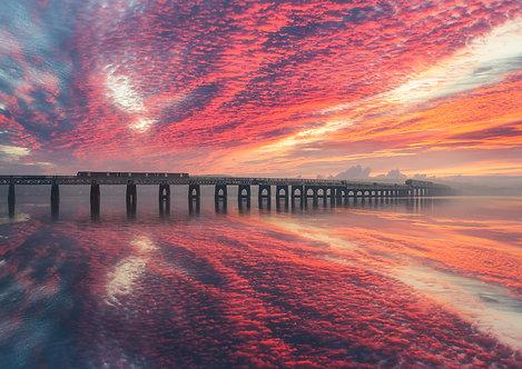 Tay Rail Bridge Sunrise