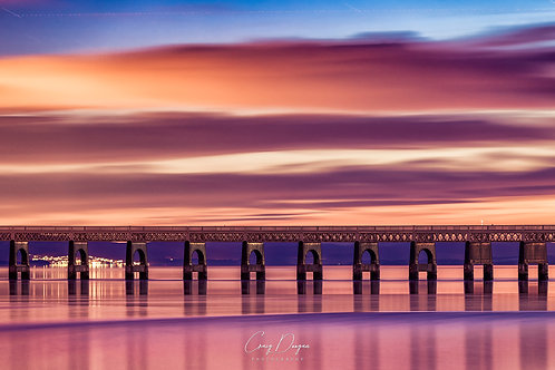 Tay Rail Bridge Photo Print Canvas Dundee Sunset Long Exposure