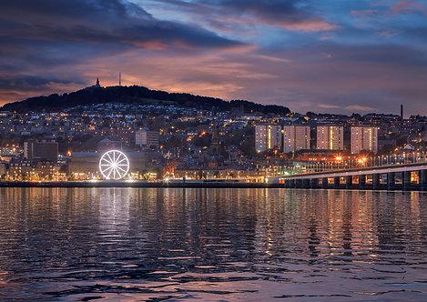 Ferris Wheel Cityscape