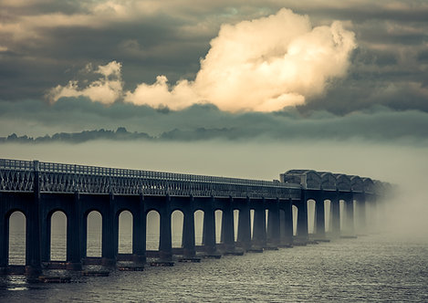Foggy Tay Rail Bridge