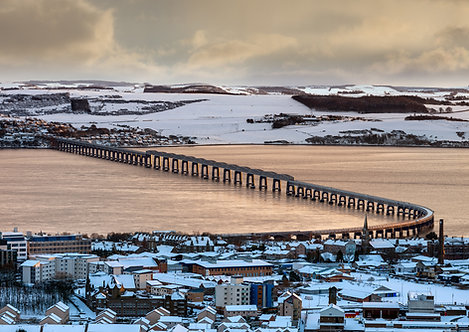 Winter Tay Rail Bridge