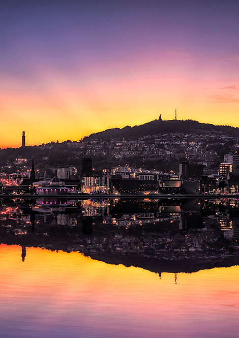 Dundee City Silhouette Sunset
