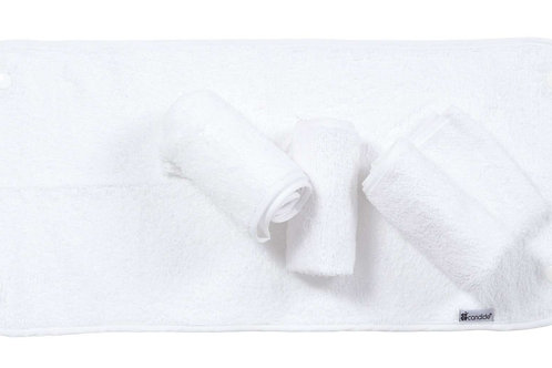 Candide Toweling liners for changing Mat Set of 4 White