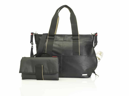 Storksak Eden Leather Nappy Bag – Black