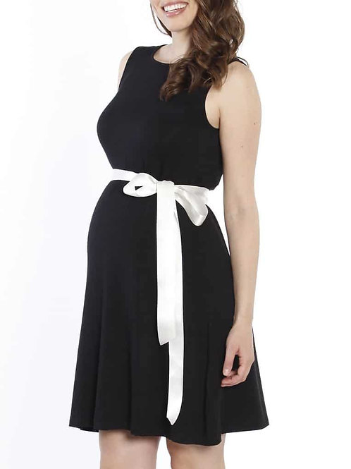 Angel Maternity Shift Party Bow Details Dress – Black XL