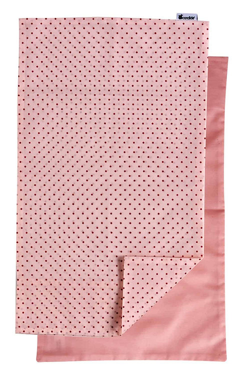 Candide Linge De Lit Pillowcase Set of 2 Pink/Pink dots