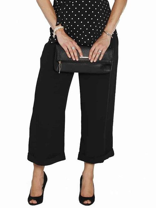 Angel Maternity Wide Leg Pants – Black L