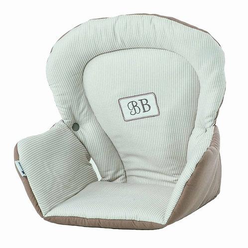 Candide Tinours Highchair Cushion Taupe/White