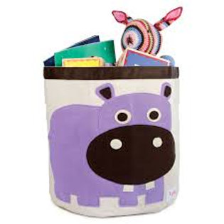 3 sprouts Storage Bin – Purple Hippo