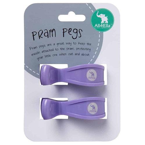 All4Ella 2 Pack Pegs – Purple