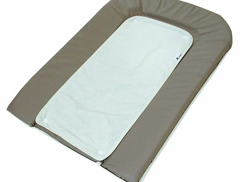 Candide Changing Mattress with Towel Taupe/White