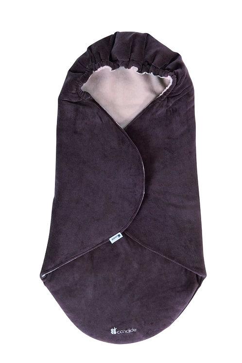 Candide Multi-Purpose Blanket Brownish-Grey Velvet