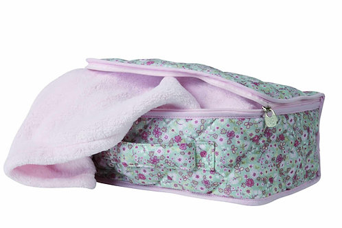 Candide Ma Jolie Fleur Suitcase with Blanket