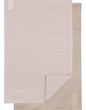 Candide Linge De Lit Pillowcase Set of 2 Beige/Taupe
