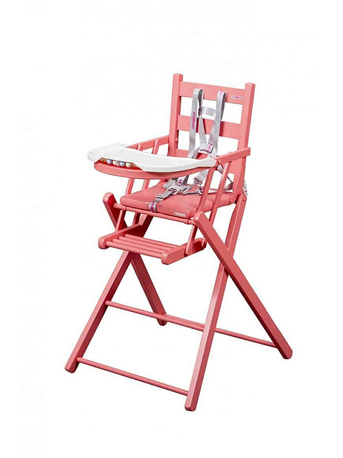 Combelle Sarah Fold-away High Chair – Pink