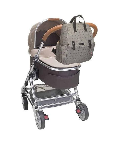 Babymel Robyn Backpack Nappy Bag Heart Dusty Grey