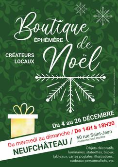 Affiche Boutique éphémère Neufchâteau